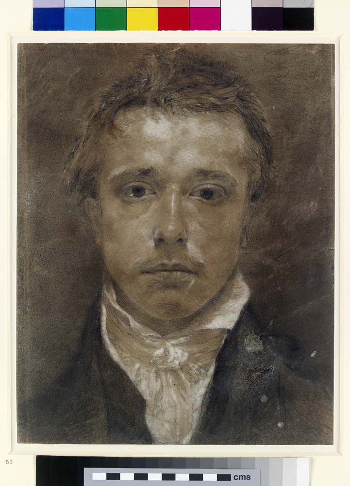 Face of Samuel Palmer on painting